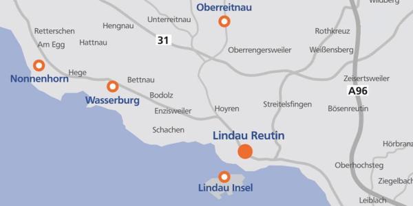 Übersicht Geschäftsstellen BodenseeBank